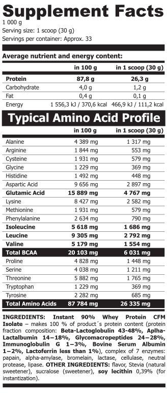 ISO90 vanilka